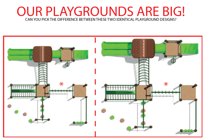 Our playgrounds are big