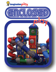 Enclosed playground equipment