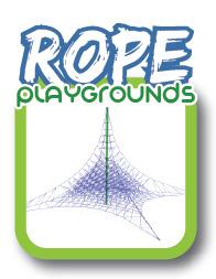Rope playground equipment