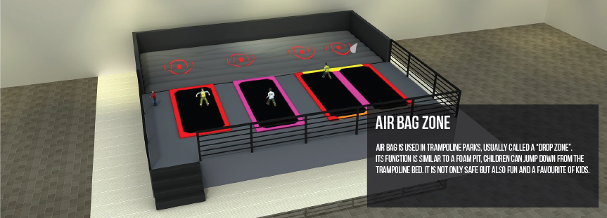 Trampoline Airbag zone
