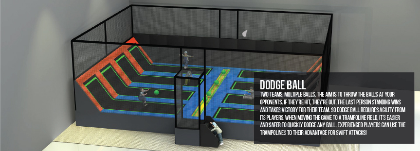 Dodge ball for trampoline parks