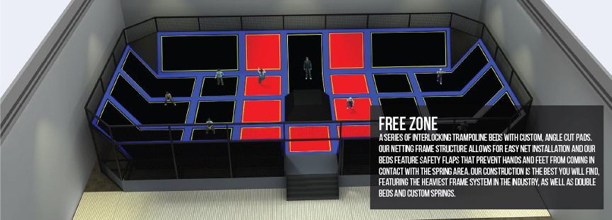 Free zone trampoline parks