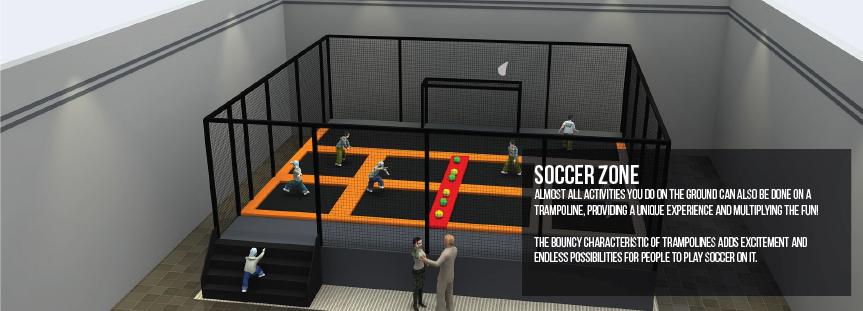 Soccer trampoline parks