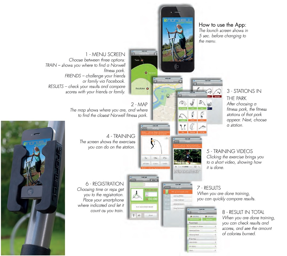 Smartphone app for fitness equipment
