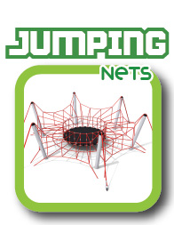 Rope jumping net play equipment
