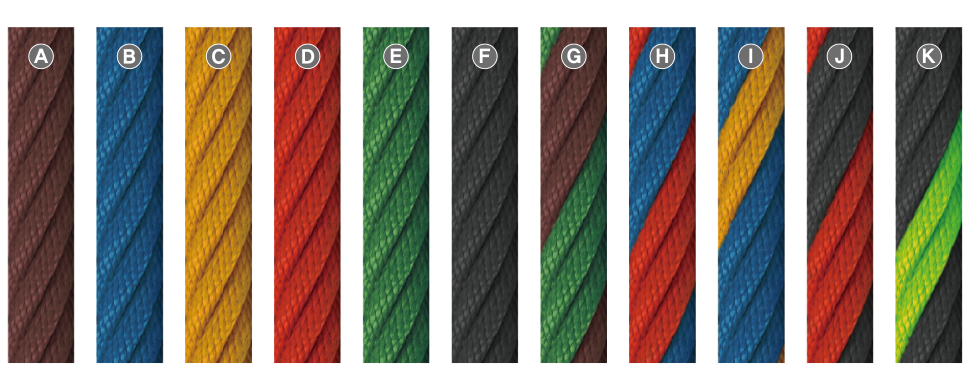 Rope play equipment colour range