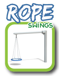 Rope swing sets