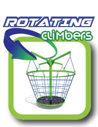 Rotating net climbers