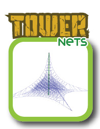 Tower rope nets