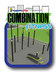 Combination fitness equipment stations